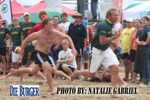 Rob Louw in action at Stilbaai